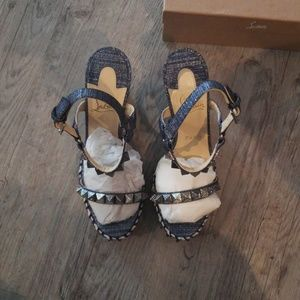 Womens Louboutin Wedge sandals